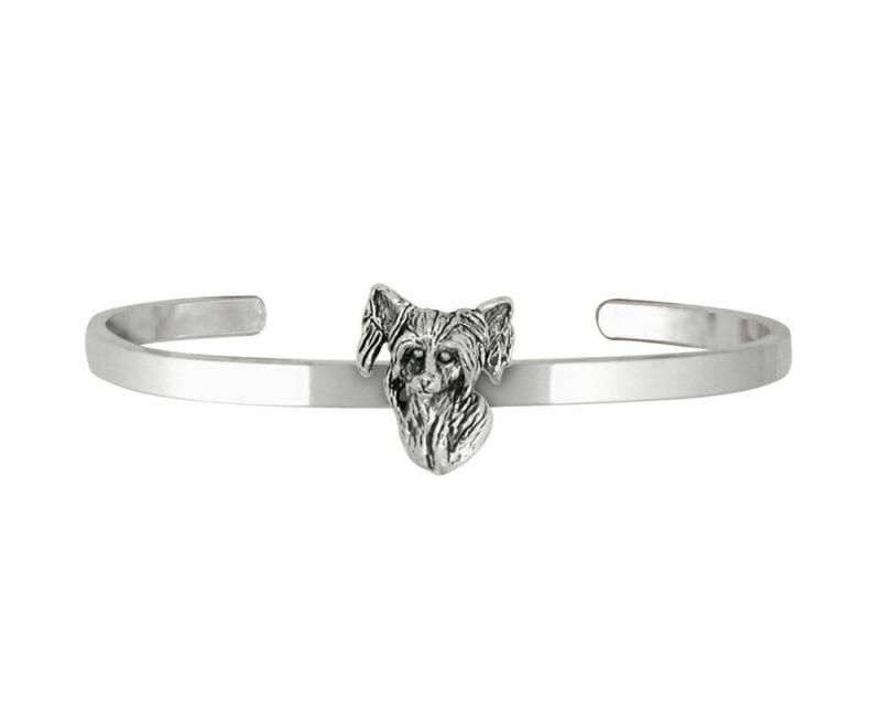 Chinese Crested Bracelet Jewelry Sterling Silver Handmade Dog Bracelet CC1-CB