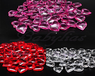 Decorative Vase Fillers (Vase Fillers Hearts Table Scatter Wedding Decorative Pebbles Acrylic)