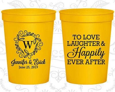 Personalized Wedding Stadium Cups Custom Cup (61) Wedding Monogram