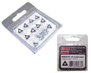AMMCO Carbide Brake Lathe Inserts - 10 Bits AMM 6914-10 or #906914-10 Fits 4000