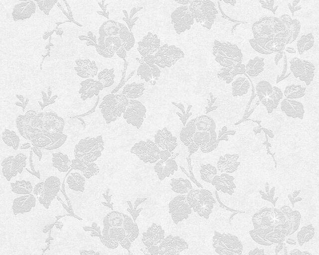 Vlies Tapete AS Memory2 95375-1 953751 Floral Landhaus Beige Grau Glitzer
