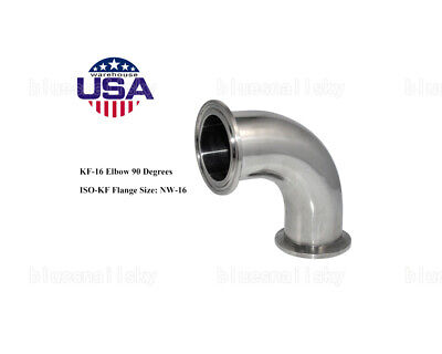 US KF25 90 Degree Elbow Corner Stainless Steel Adapter Vacuum Oven Fitting SALE