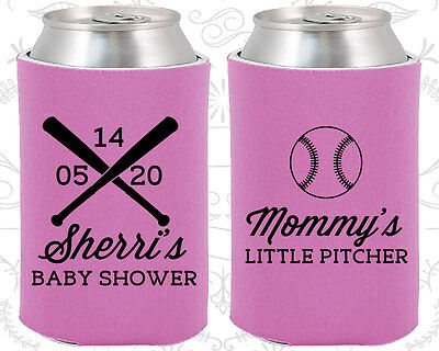 Baby Shower Koozies Koozie Decorations (90137) Mommys Little Pitcher, - Baseball Baby Shower Decorations
