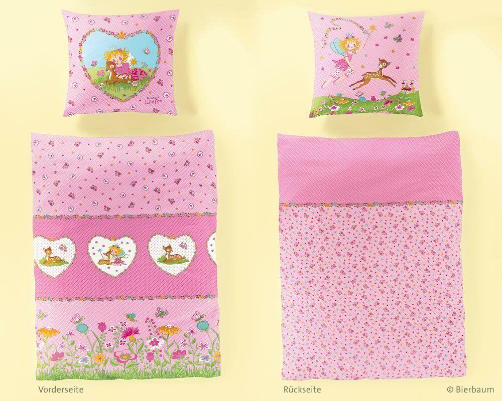 Bettwäsche Mädchen 135x200 cm 2 tlg 80x80 Rosa Kinderbettwäsche Biber Prinzessin