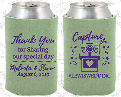 Wedding Favor Koozies Cheap Koozie Ideas (95) Capture the Love, Wedding Hashtag - Favor Ideas