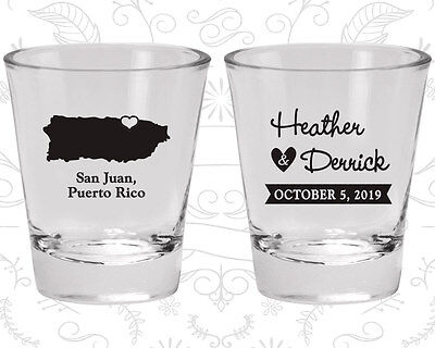 Wedding Shot Glasses Personalized Shot Glass (190) Puerto Rico Wedding Favors](Personalized Shot Glass Wedding Favors)