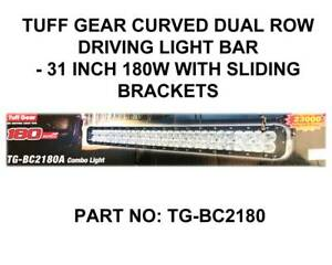 TUFF GEAR - CURVED LED LIGHTBAR 31.5INCH 180W - SLIDING BRACKETS Fyshwick South Canberra Preview