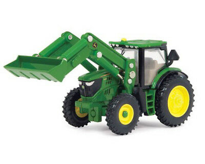 Ertl John Deere 6210R Toy Tractor with Front Loader, 1:64 Scale