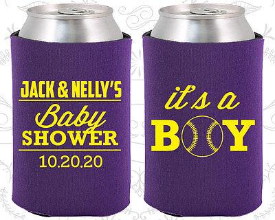 Baby Shower Ideas Boys (Baby Shower Koozies Koozie Ideas (90143) it's a Boy, Baseball,)