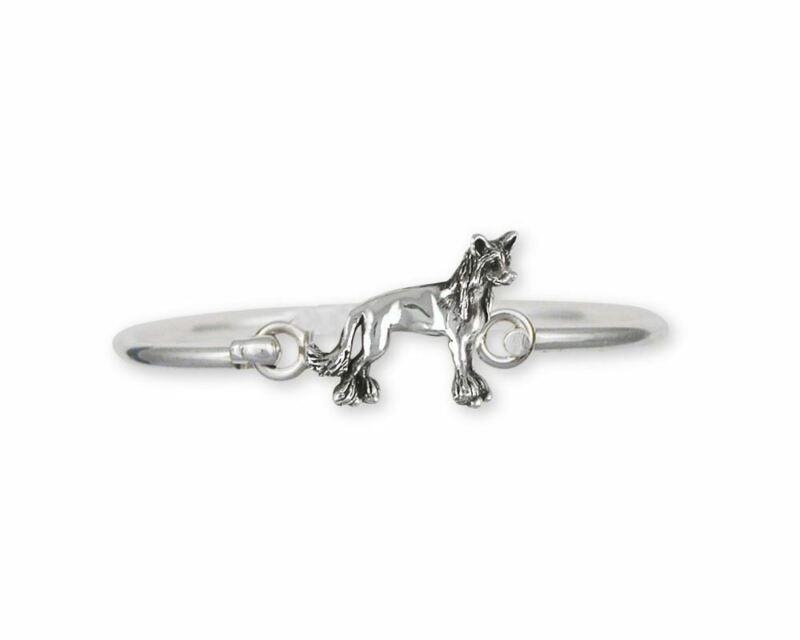 Chinese Crested Bracelet Jewelry Sterling Silver Handmade Dog Bracelet CC4-HB