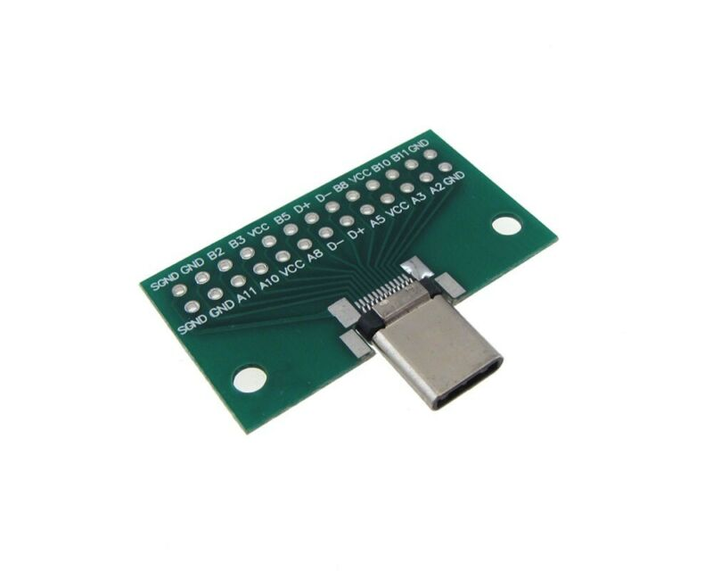 USB 3.1 Type-C Connector Breakout Board DIP