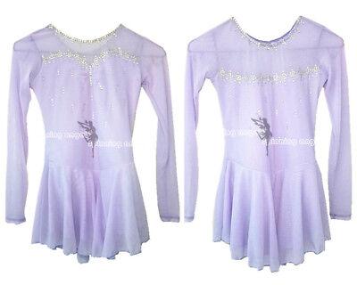 f808d108bf62 Figure Skating Dress Custom Purple Competition Ice Skating Dress Girls W050