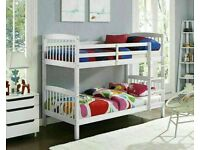 SALE ON FURNITURE--NEW SINGLE WOODEN BUNK BED with multi colors--call now