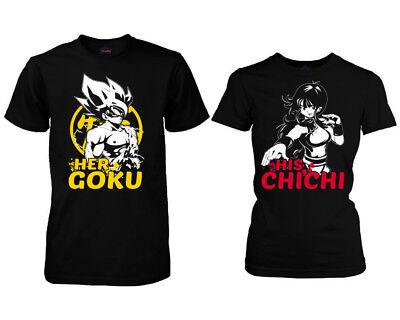 Her Goku His Chichi Couple Matching T-shirts. DBZ love Fans cute Matching shirts