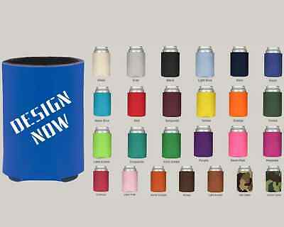50 Personalized Neoprene Can Koozies Custom Logo/ Message-One Color Imprint!!!