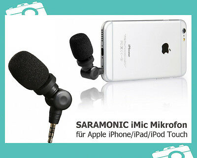 Saramonic iMic Mikrofon f. Apple iPhone iPod Touch iPad mit 3,5mm Mini-Klinke