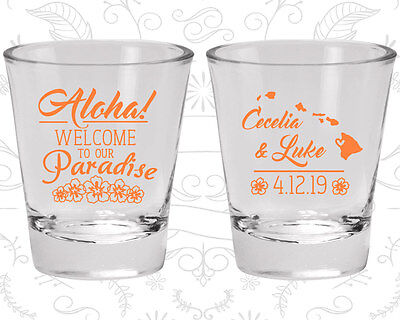 Wedding Shot Glasses Personalized Shot Glass (465) Aloha Wedding Favors](Personalized Shot Glass Wedding Favors)