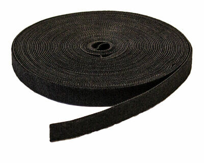 12 Inch Roll Hook And Loop Reusable Cable Ties Wraps Straps 10m 33ft