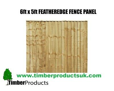 **PACK OF 10** CHEAP SPECIAL OFFER! 6 x 5 feather edge panels