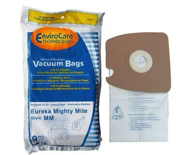 - 9 micro filtration Vacuum Bags for Eureka MM Mighty Mite 3670 and 3680 Canister
