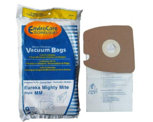 9 micro filtration Vacuum Bags for Eureka MM Mighty Mite 3670 and 3680 Canister