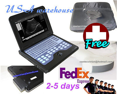 Contec Portable Laptop Machine Digital Ultrasound Scanner 3.5 Convex Probefedex