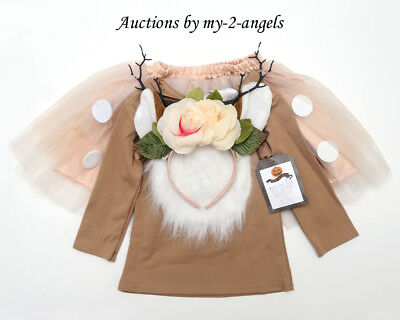 NEW Pottery Barn Kids WOODLAND DEER TUTU HALLOWEEN COSTUME 7-8 YR 7 8 NWT *child