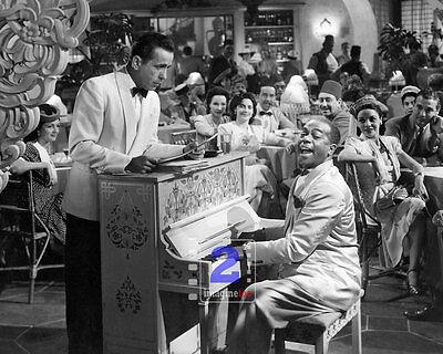 "Casablanca -Humphrey Bogart 10""x 8"" B&W PHOTO REPRINT"
