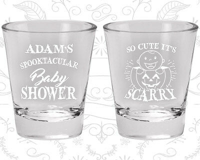 Halloween Baby Shower Favors (Baby Shower Shot Glasses Glass Favors (90088) Halloween,)