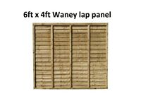 6ft x 4ft Waney Lap Panels pack of 10