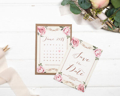 Vintage Ivory Save the Date Cards