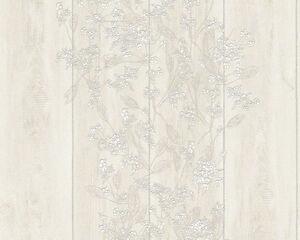 vlies tapete as naf naf 95242 2 beige wei blumen holz. Black Bedroom Furniture Sets. Home Design Ideas
