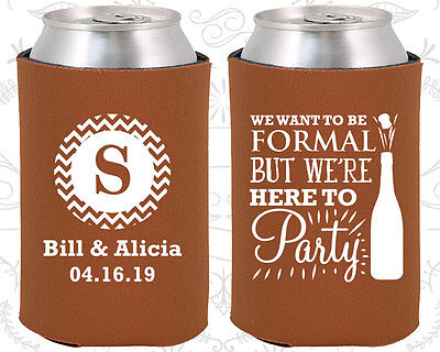 Personalized Wedding Koozies Funny Koozie Items (367) Wedding Monogram - Personalized Koozie