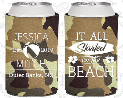 Wedding Favor Coozies Cheap Beer Can Coozie Idea (416) Giveaways, Beach - Cheap Giveaways