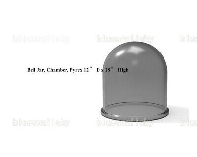Thermal Evaporation System Chamber Glass Bell-jarpyrex 12 D X 18 High Us Ship