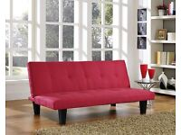 Red immaculate sofa bed