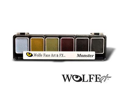 Wolfe FX Face Paint Makeup 6 Color Monster Palette w/ Brush ](Wolf Face Paint)