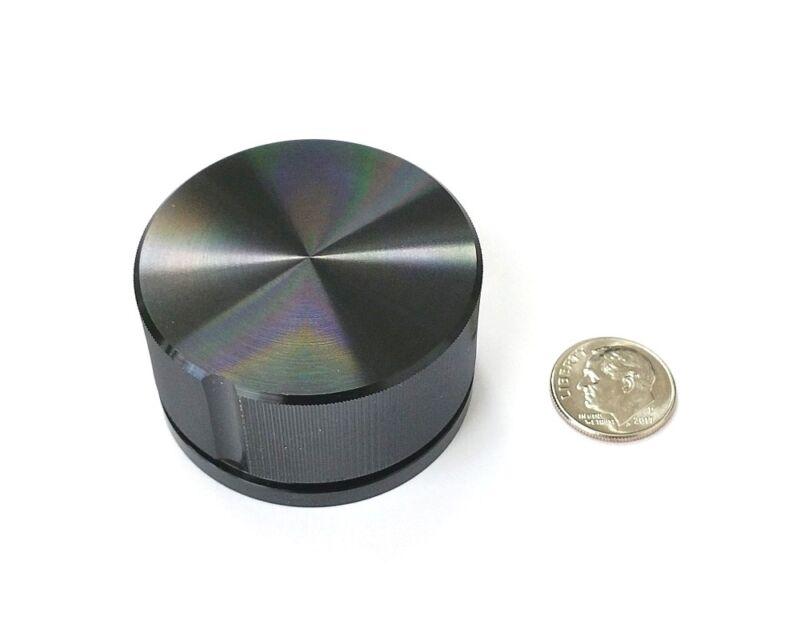 Sato Parts # K-59-L-B 6.0mm Shaft, 45mm Large Black Splined Aluminum Knob