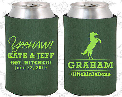 Wedding Favor Coozies Cheap Beer Can Coozie Idea (596) Yeehaw, Country Favors - Cheap Country Wedding Favors