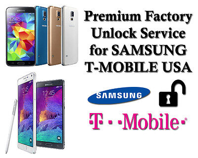 Premium Factory Unlock Code For Samsung Galaxy S4 S5 S6 S7 NOTE 4 T