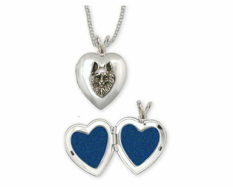 Schipperke Jewelry Sterling Silver Schipperke Photo Locket Handmade Dog Jewelry