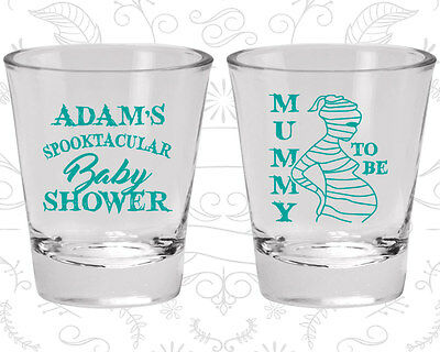 Halloween Baby Shower Favors (Baby Shower Shot Glasses Glass Favors (90087) Halloween, Mummy To)