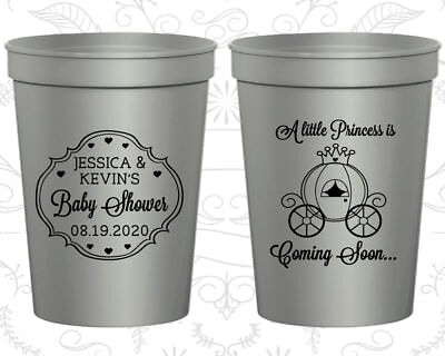 Princess, Pink Baby Shower Cups, It's a Girl Cups, Baby Shower Ideas (90085) - Baby Shower Princess Ideas