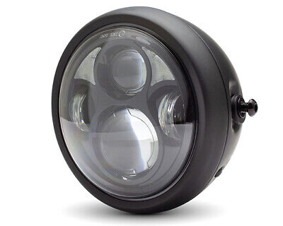 MOTORBIKE LED HEADLIGHT 65 CUSTOM RETRO CAFE RACER OR STREETFIGHTER