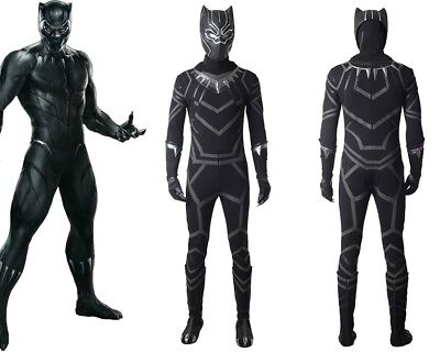 New Captain America Civil War T'Challa Black Panther Cosplay Costume Custom - Custom Made Captain America Kostüm