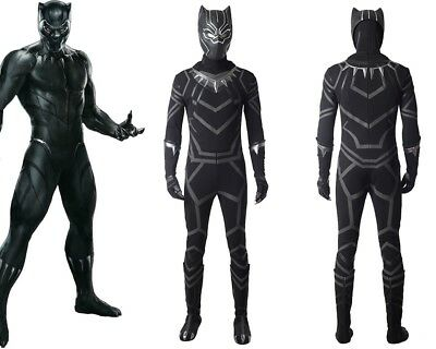 New Captain America Civil War T'Challa Black Panther Cosplay Costume Custom Made