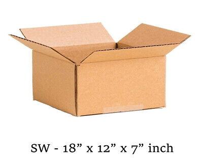 10 MOVING BOX Single Wall Cardboard 18x12x7