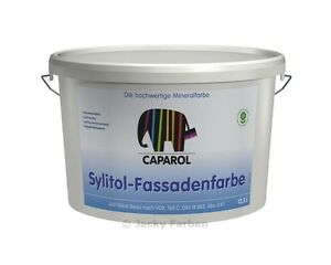 Angebot ! Caparol Sylitol 12,5 ltr Fassadenfarbe Außenfarbe Silikatfassadenfarbe
