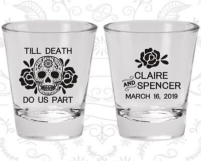 Wedding Shot Glasses Personalized Shot Glass (380) Skull Wedding Favors](Personalized Shot Glass Wedding Favors)