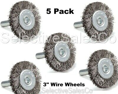 "1-1//2/"" Mounted Crimped Wire Wheel Carbon Steel Wire 5 Pack"
